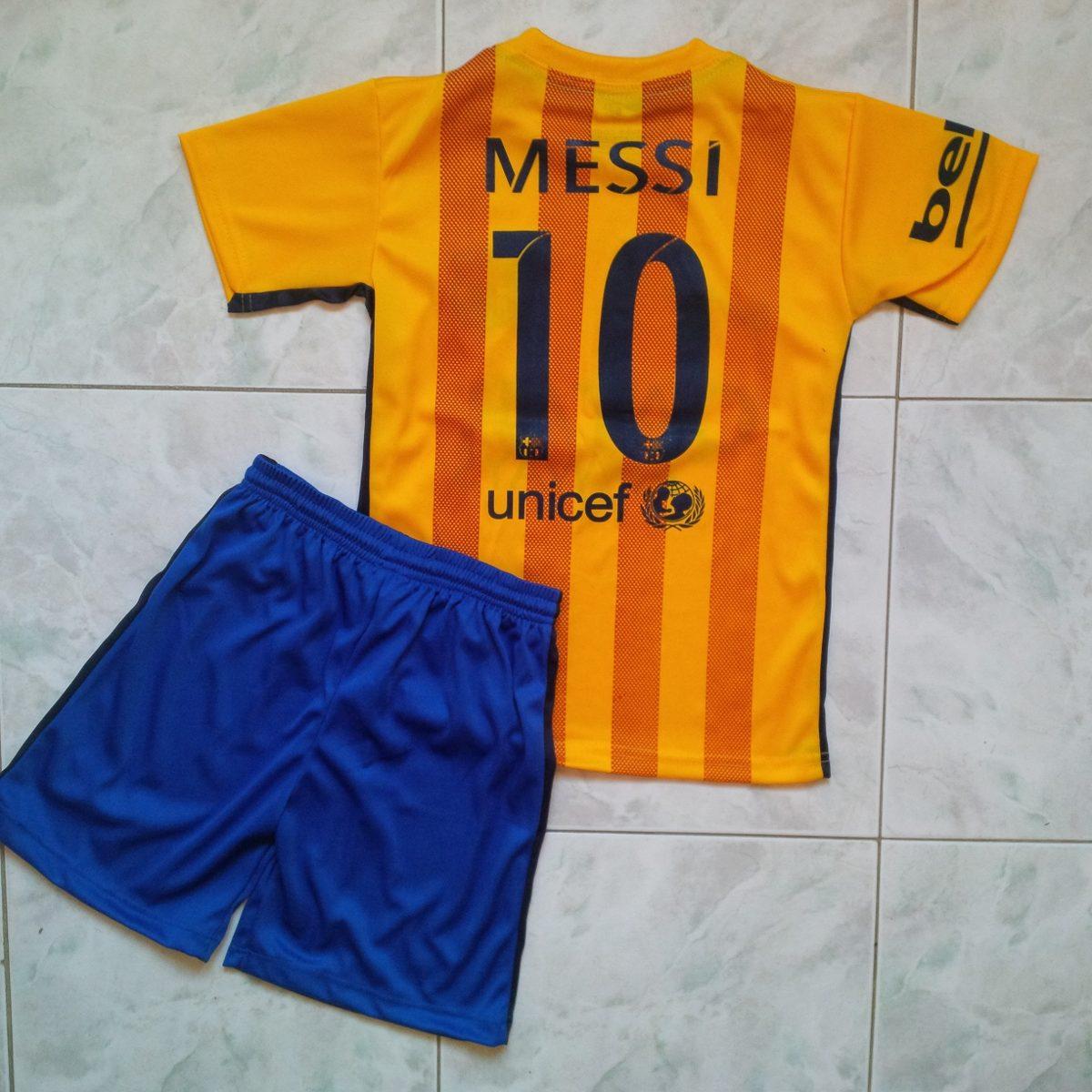 uniforme barcelona fc amarillo 2015-2016 estampado messi. Cargando zoom. e52414c079f97