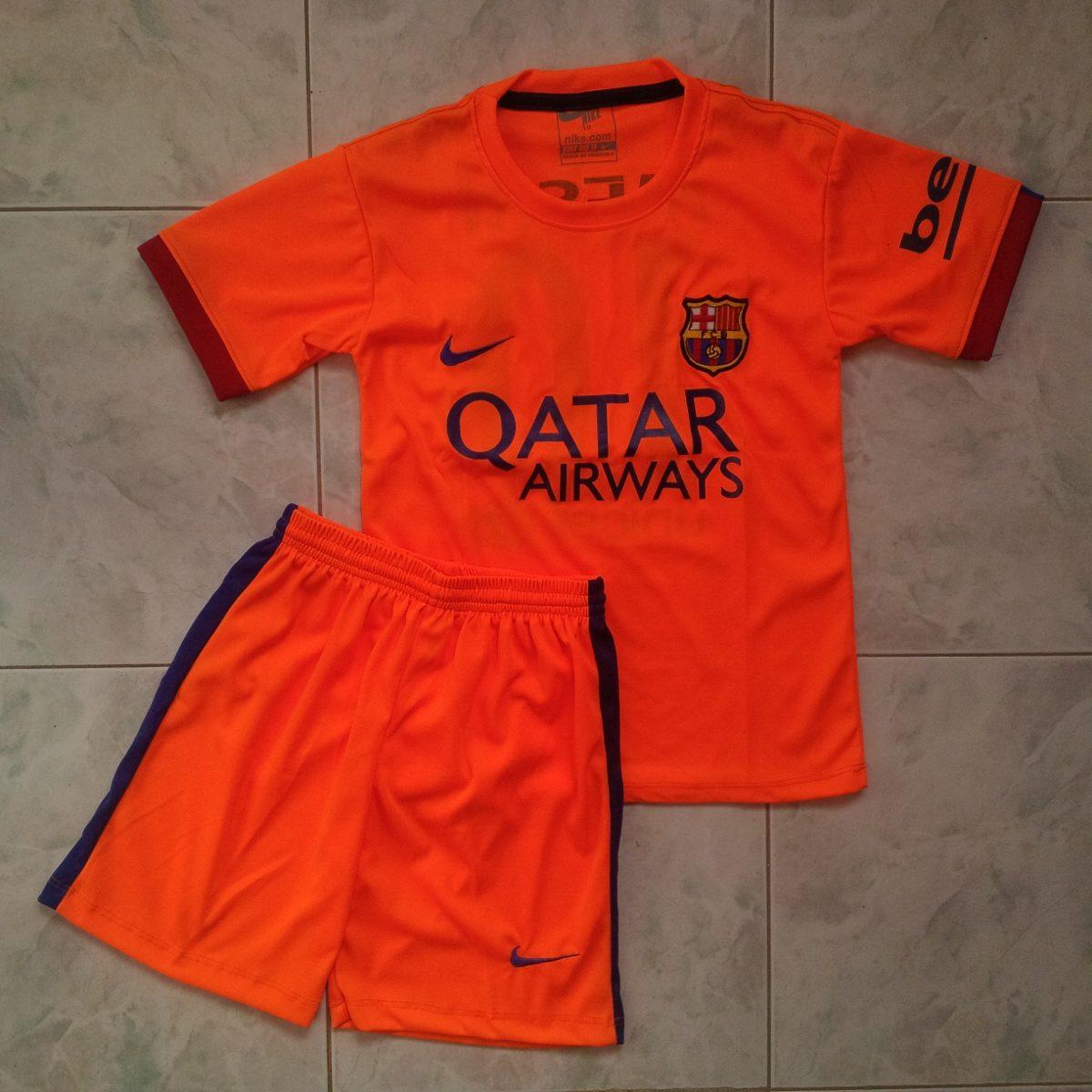 uniforme barcelona fc visitante naranja 2014 2015 niños. Cargando zoom. ffc39ce6963