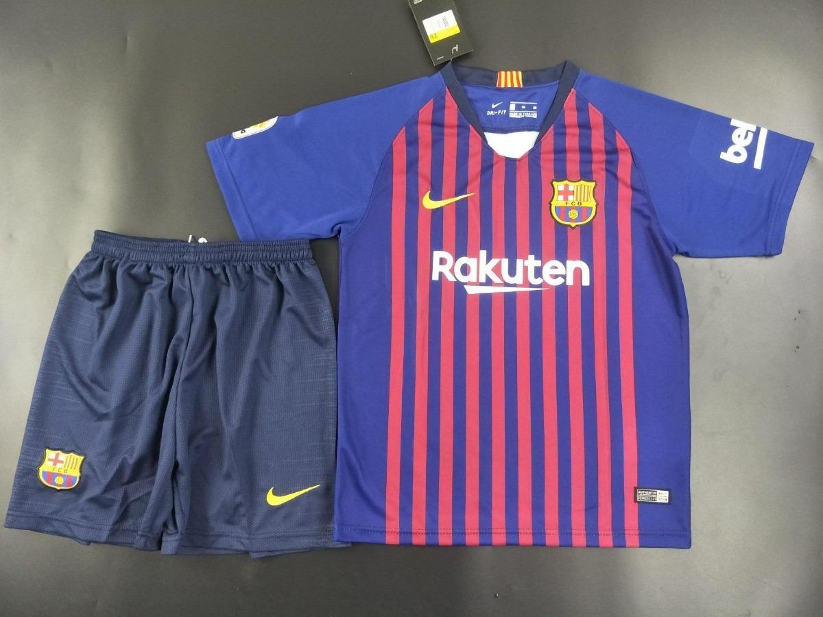 eeee5b7455 Uniforme Barcelona Infantil Completo Original Camisa+shorts - R  169 ...