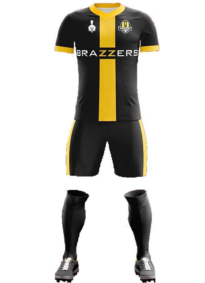 9e2fe7a1e5e87 Uniforme Brazzers Fútbol Personalizado -   600.00 en Mercado Libre