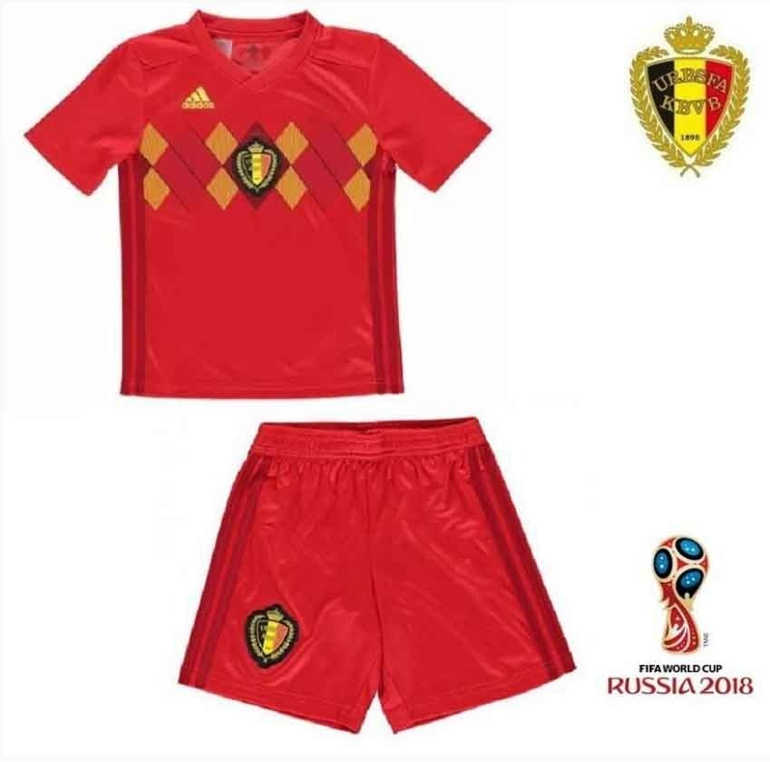 1692b061c5 Uniforme Camisa E Shorts Infantil Seleção Bélgica Oficial - R$ 140 ...