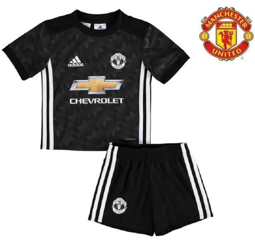 uniforme camisa shorts infantil manchester united away 2017. Carregando  zoom. 53d85725da04a