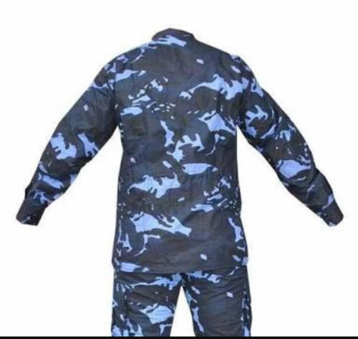 7ff10df0b2d83 uniforme camuflado azul completo. Carregando zoom.