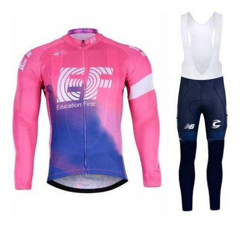 uniforme ciclismo badana gel ciclista unisex manga largo