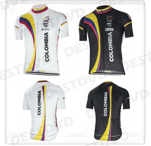 uniforme ciclismo camisa colombia top - color blanco o negro