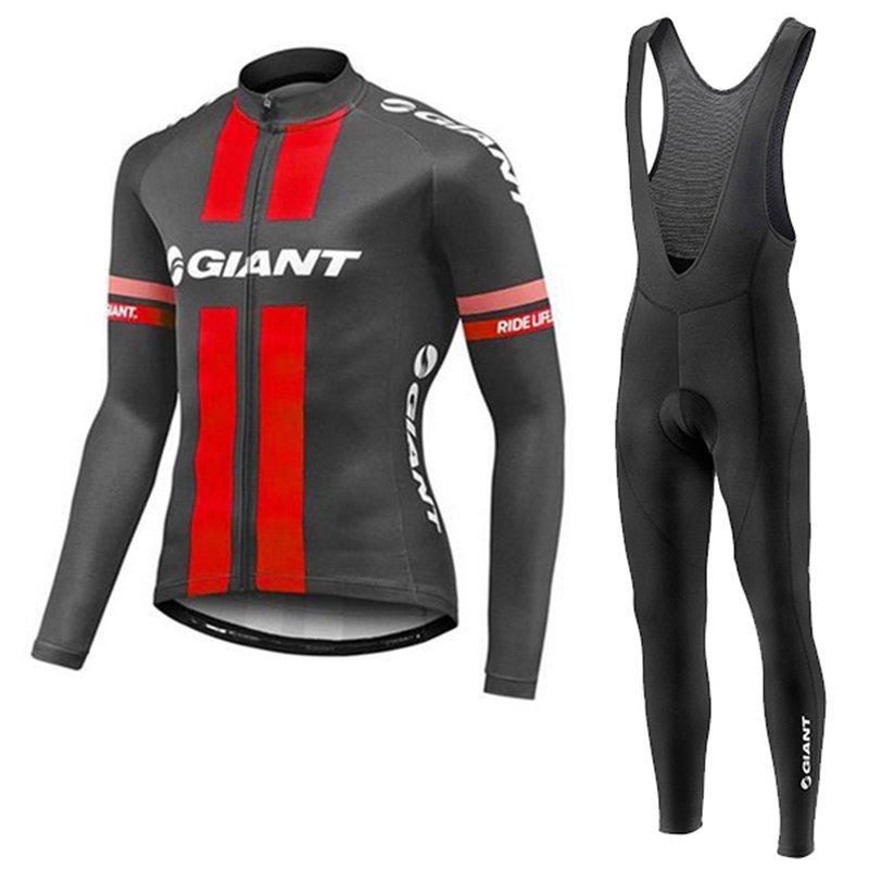 Uniforme Ciclismo Giant Black r Largo Jersey Pants Bib Bici ... 1270fa38136c
