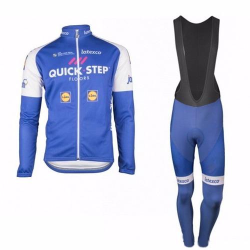 uniforme ciclismo largo quickstep 2017