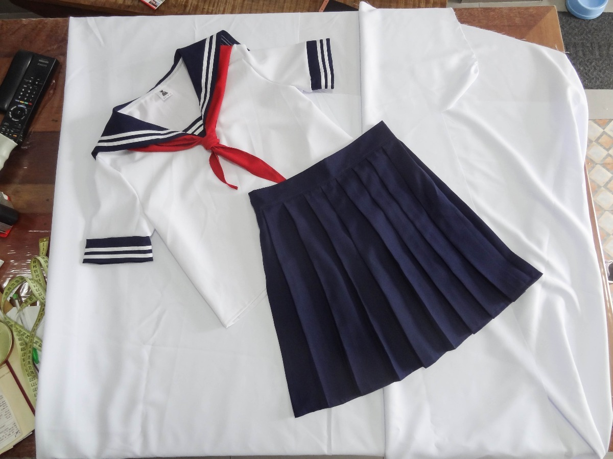 uniforme colegial japones seifuku cosplay toga com camiseta. Carregando  zoom. 1ff9cef020ec