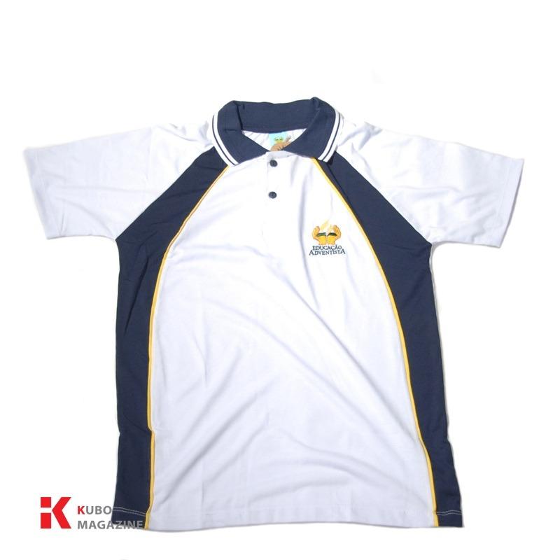 16c61a47100cc9 Uniforme Colegio Adventista Ensino Medio Camisa Polo Unissex