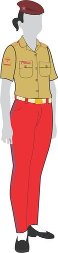uniforme colégio militar: calça garança feminina