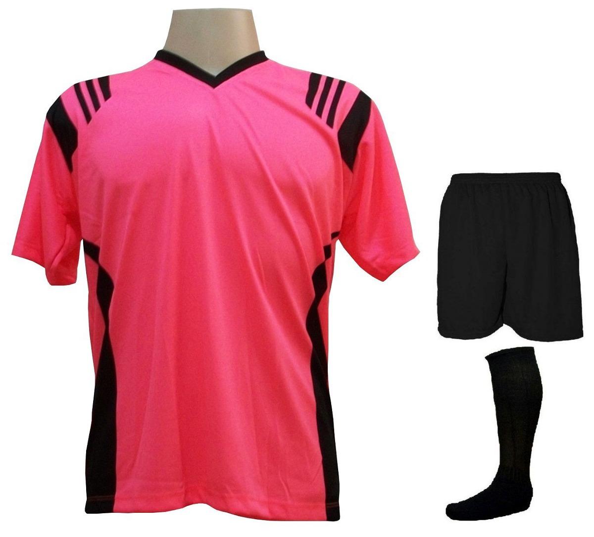 3ce3ac5cd08e2 uniforme completo modelo roma rosa preto 18+2 + brindes. Carregando zoom.