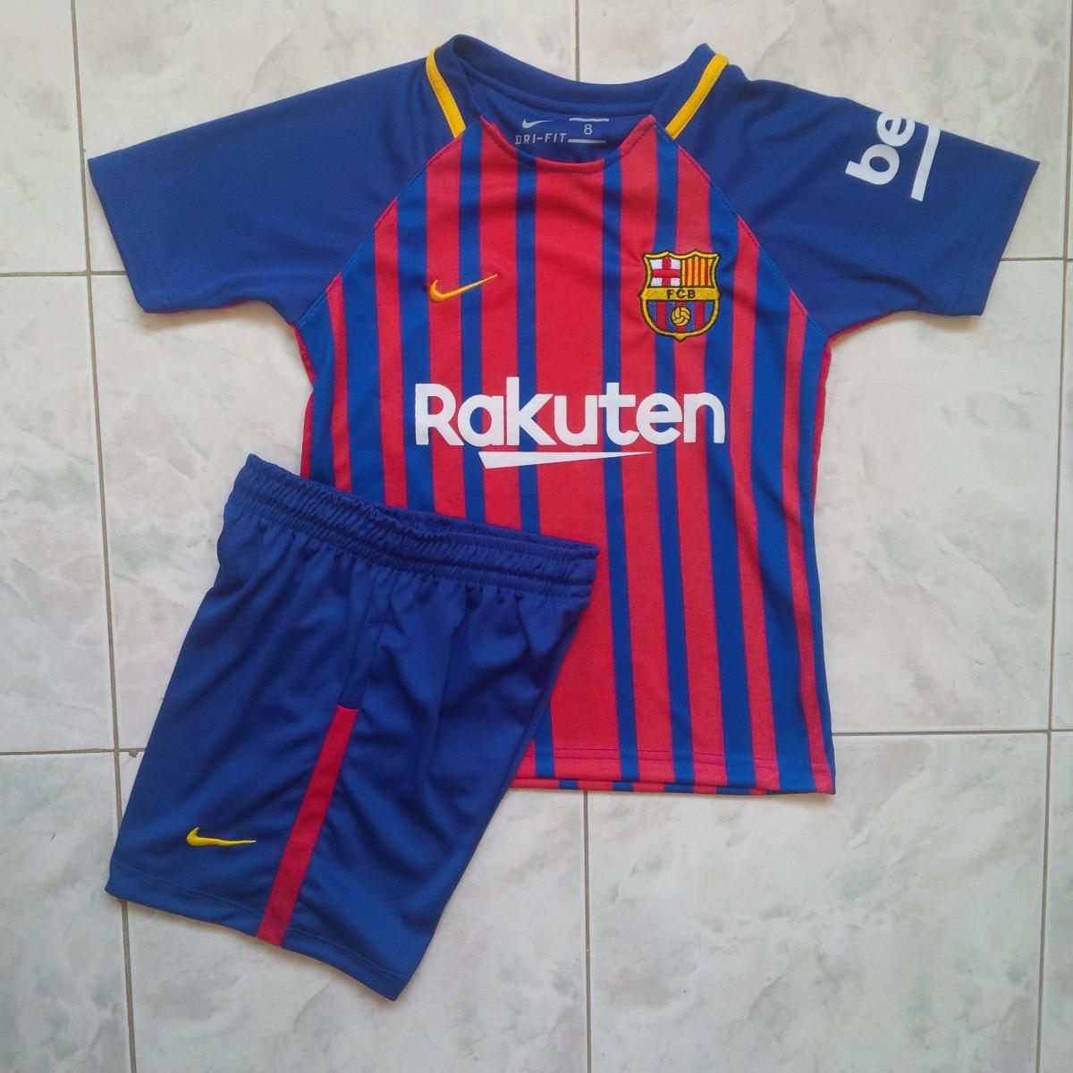 e69d662732611 uniforme conjunto barcelona local 2017-2018 rakuten niños. Cargando zoom.