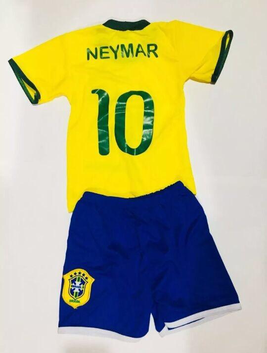 614d22e17 Uniforme Conjunto Brasil Infantil Seleção Brasileira 2018 - R  13