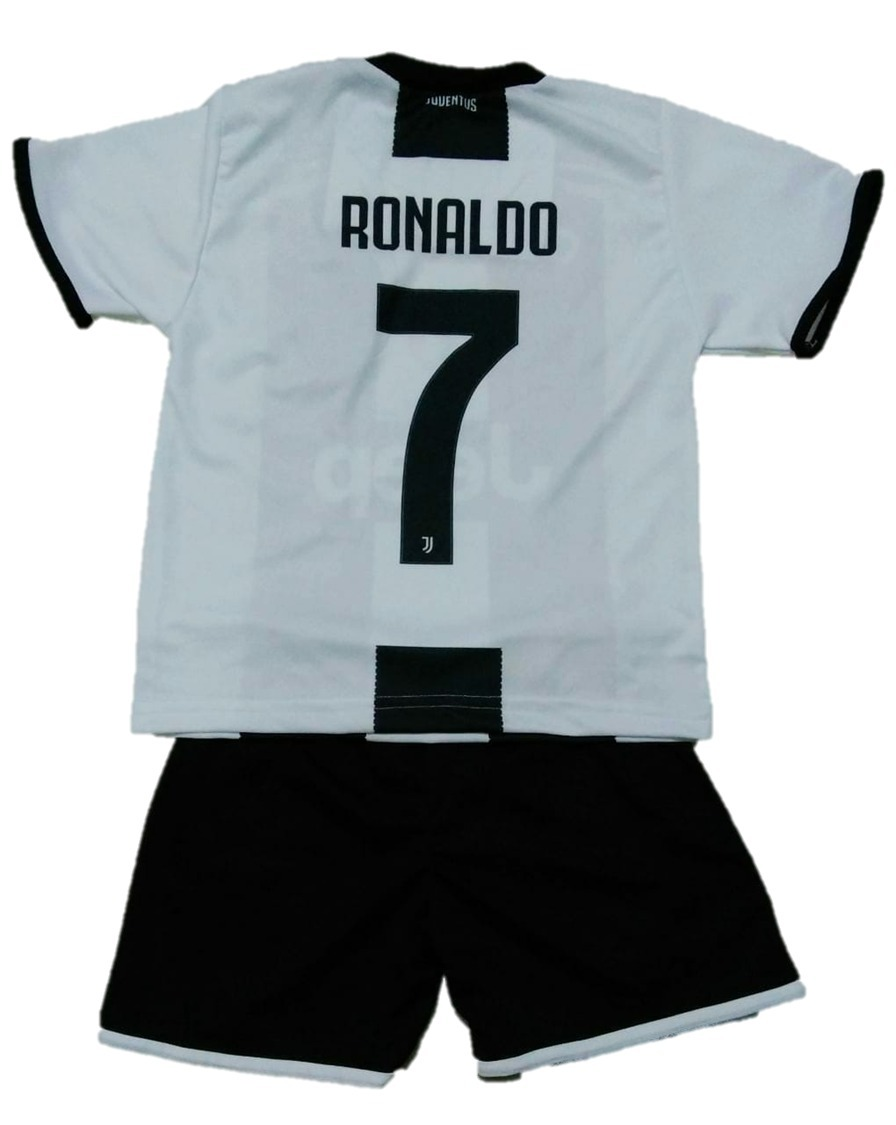 41ab39a27acde Uniforme Conjunto Cr7 jts Infantil Futebol Meninos Ronad