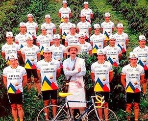 uniforme de ciclismo cafe de colombia