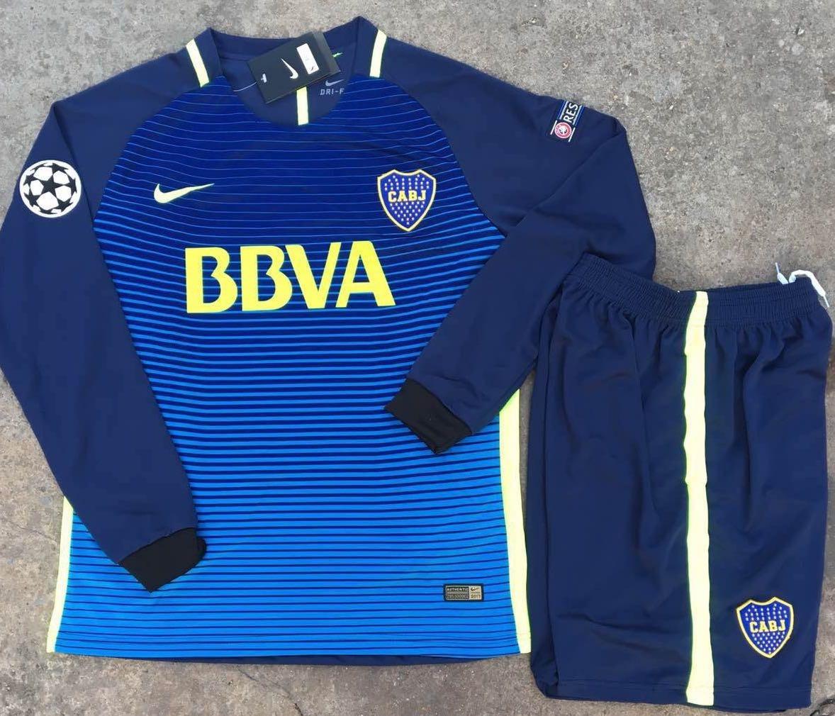 e6aa42f87b Uniforme De Fútbol Boca Juniors Manga Larga -   39.900 en Mercado Libre