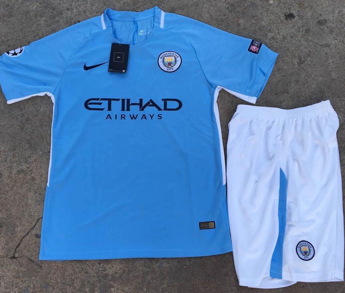 Uniforme De Futbol Manchester City Manga Corta -   34.900 en Mercado ... 522f720ba6148