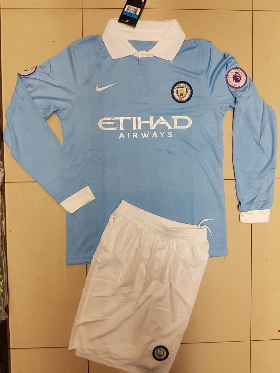 Uniforme De Fútbol Manchester City Manga Larga -   39.900 en Mercado ... 399a946d5088c