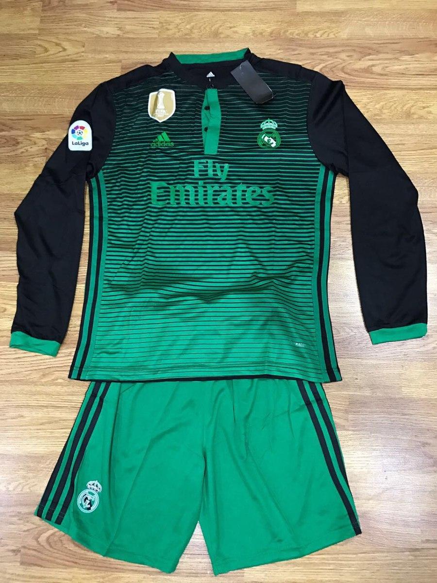 Uniforme De Futbol Real Madrid Manga Larga -   39.900 en Mercado Libre 8af70cb24887b