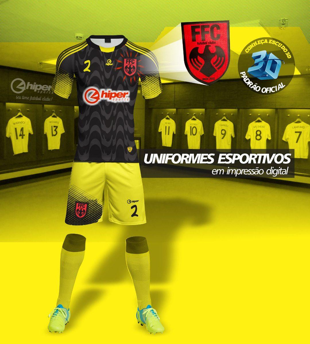 Uniforme De Futebol 10 Camisas+10 Calções Em Dri + 10 Meiões - R ... 103014accbc9b