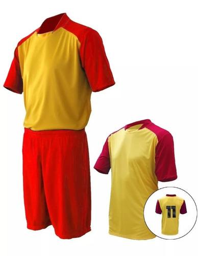Uniforme De Futebol Jogo De Camisa E Calção Esportivo 4 Pcs - R  119 ... 5e7865fee0fe4