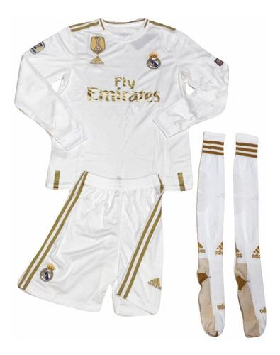 uniforme de real madrid con medias 2019 envío gratis
