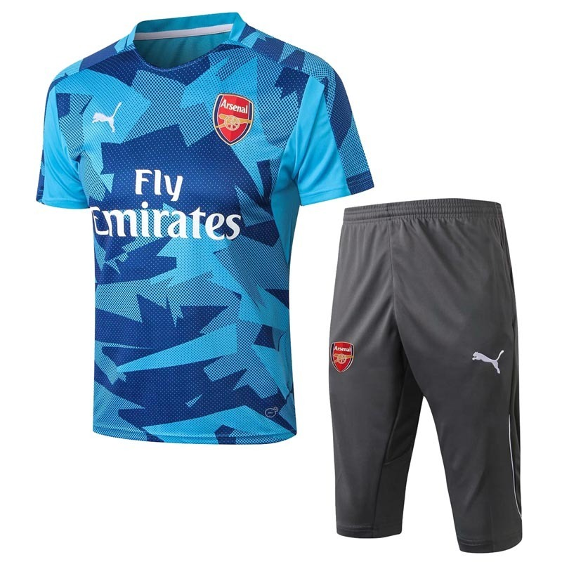 Uniforme De Treino Verão Camisa E Shorts Arsenal 2018 Adulto - R ... 26981d116aec7
