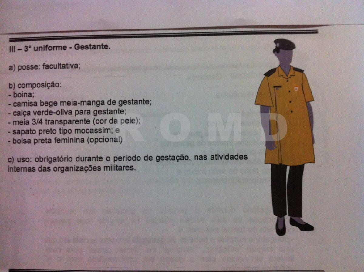 uniforme do exército  3º uniforme gestante (sob medida). Carregando zoom. 5bbb4070e82