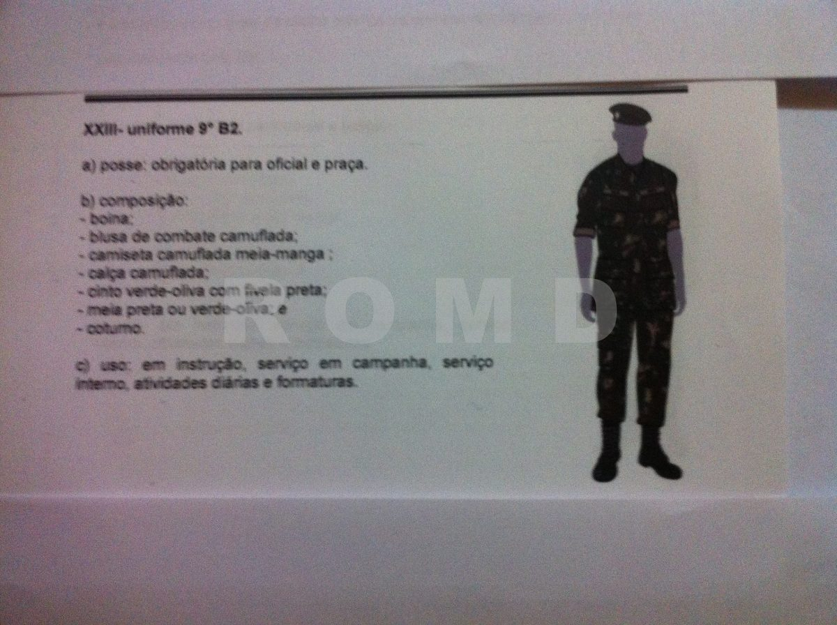 16a409ea5ee Uniforme Do Exército: 9º B2 Uniforme Completo (sob Medida) - R$ 845 ...