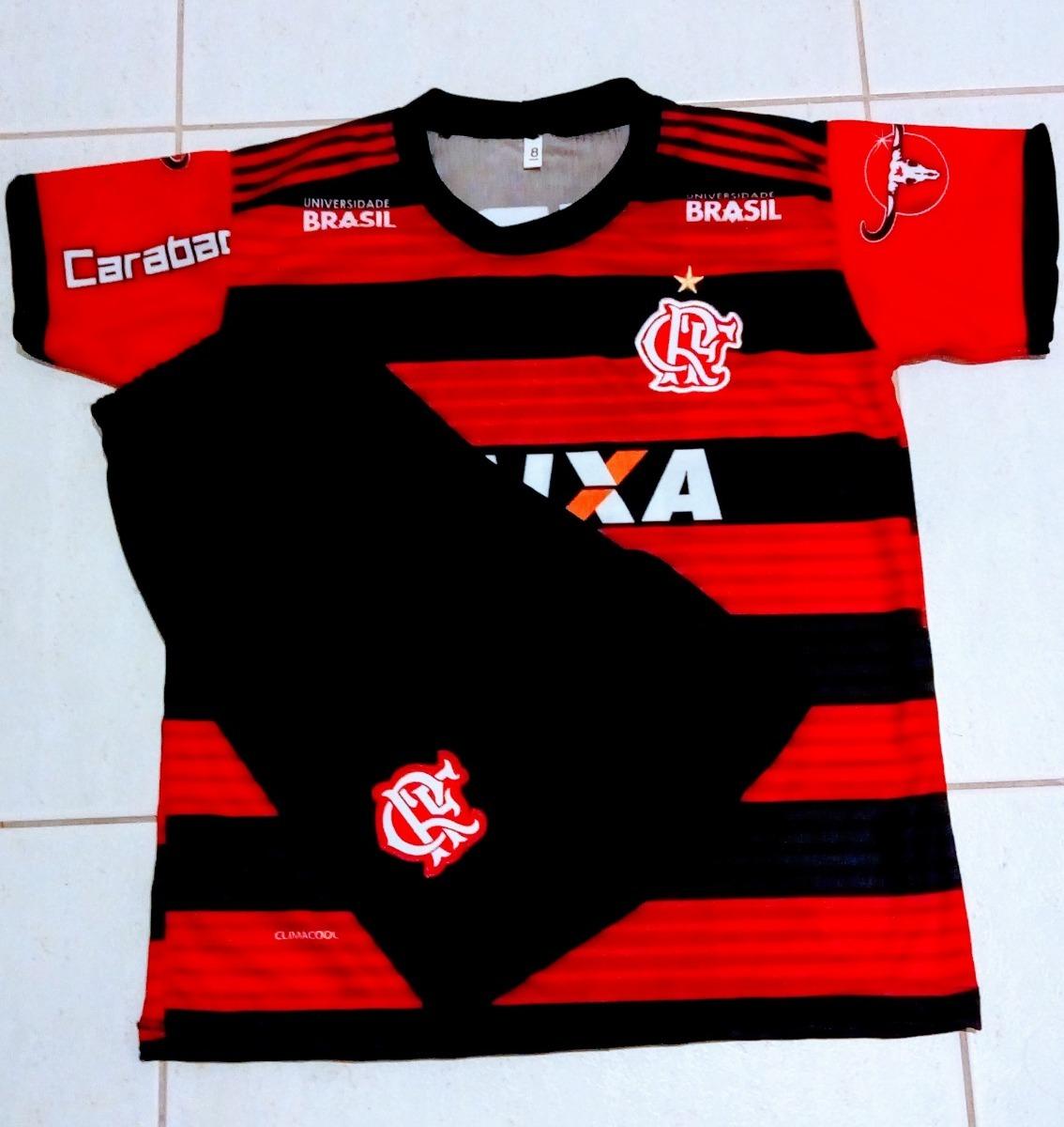 Uniforme Do Flamengo Infanti 2018 + Meião - R  45 dbf735266c1d3