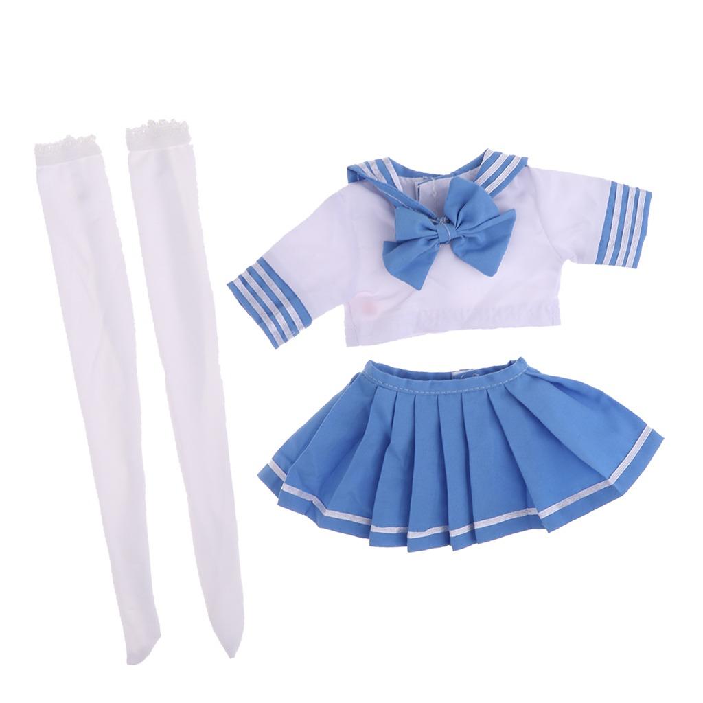 013f281119fc9 uniforme escolar de estilo japonés falda azul tops stockin. Cargando zoom.