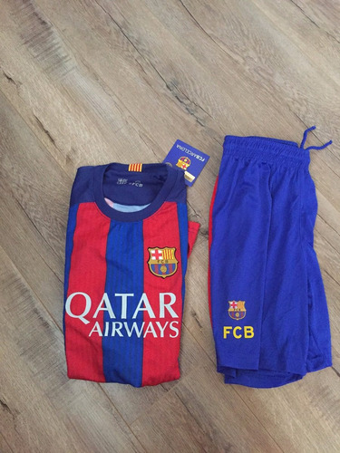 uniforme fc barcelona local - messi -  jr. 14