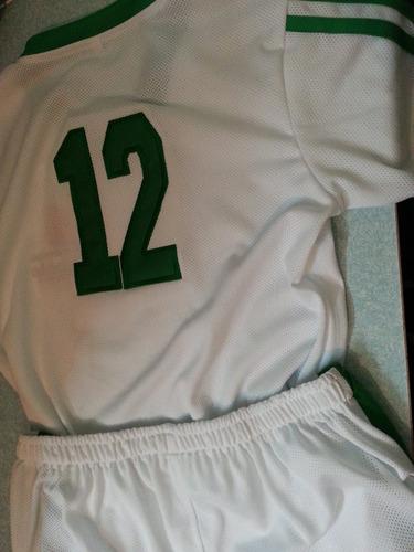 uniforme futbol basquet voleyball tela atletica. tallas