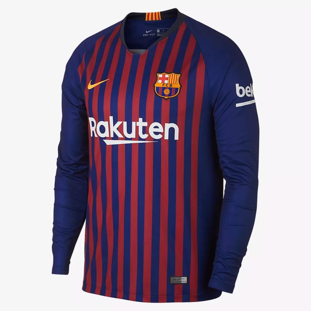 Uniforme Fútbol Manga Larga Adulto Barcelona 2018-2019 -   145.000 ... 5d5f4e2cd51