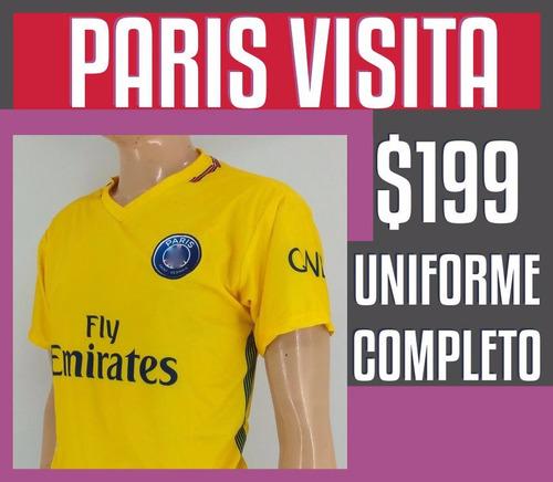 uniforme futbol paris visita jersey visita psg medias short