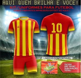 ae9ca9cb05 Camisa E Calçao De Futebol Personalizado - Esportes e Fitness no Mercado  Livre Brasil