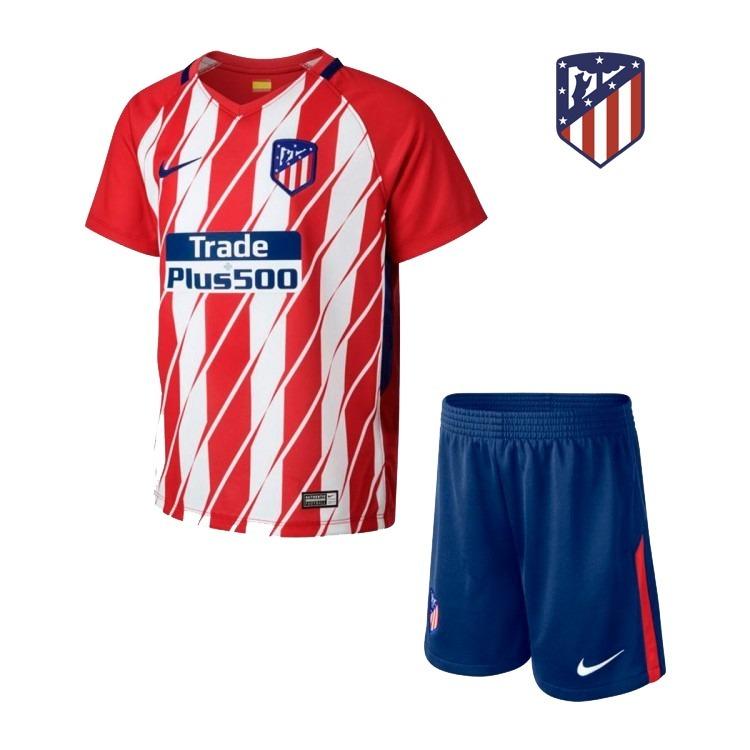 aaec4c2bcfa5c Uniforme Infantil Atlético De Madrid Oficial Camisa E Shorts - R ...