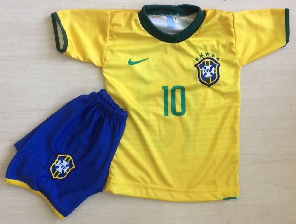 3b229c2db uniforme infantil barato brasil copa mundo russia neymar 10. Carregando  zoom.