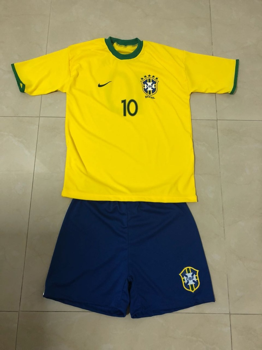 uniforme infantil brasil seleção brasileira - promoção. Carregando zoom. df2b752b5126c