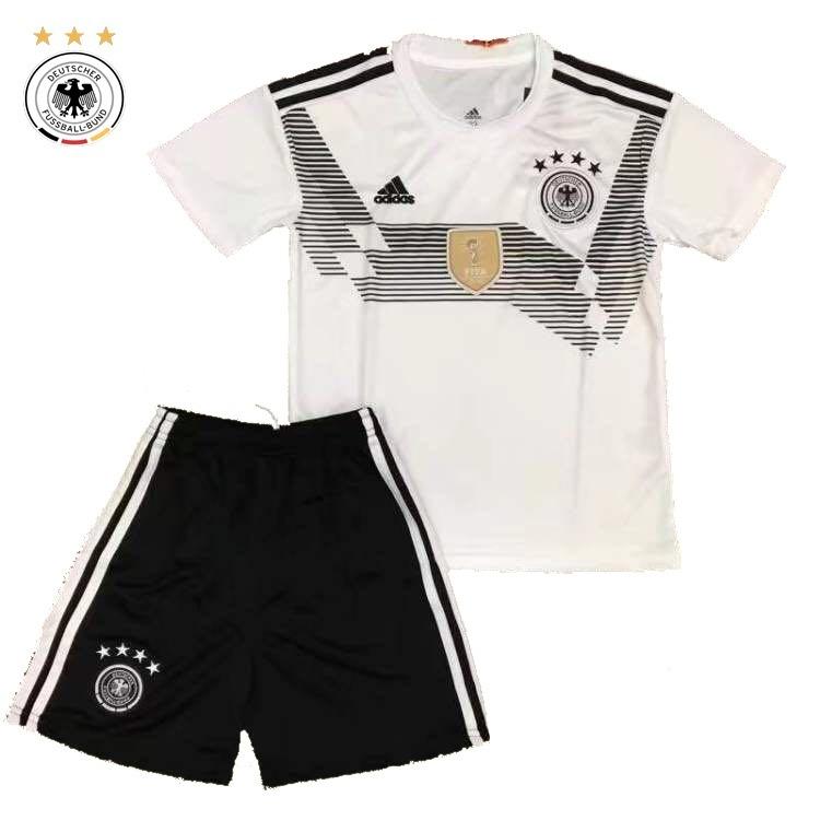 e71c87256a Uniforme Infantil Camisa E Shorts Alemanha Oficial Copa 2018 - R ...