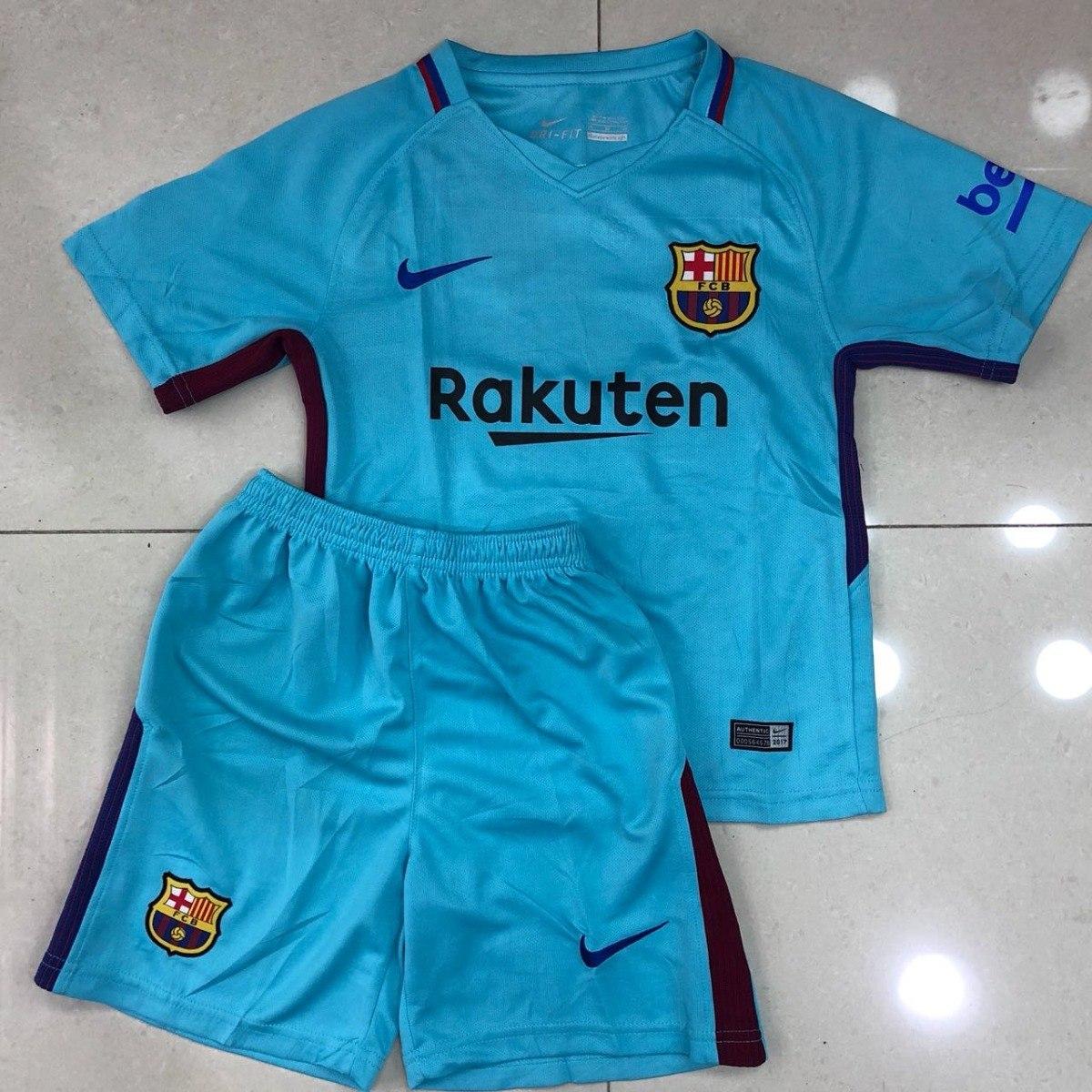 uniforme infantil camisa e shorts barcelona 2017 oficial. Carregando zoom. a97a9e88eaf