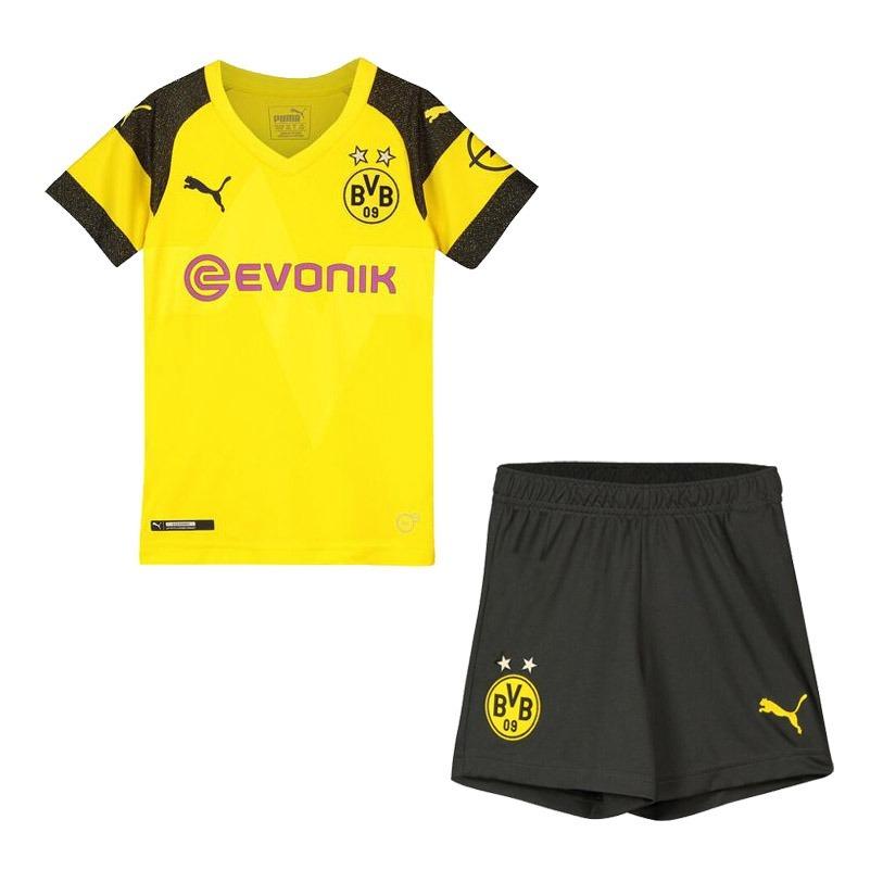 uniforme infantil camisa e shorts borussia oficial 2018. Carregando zoom. 0ca294192fc8f