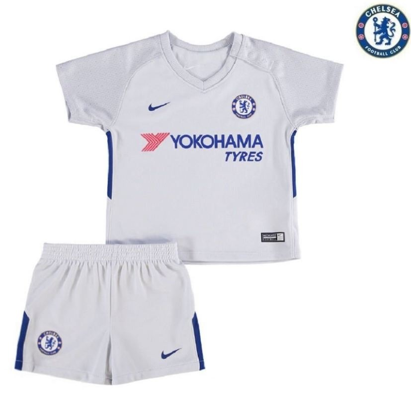 Uniforme Infantil Camisa E Shorts Chelsea Oficial 2018 Nike - R  160 ... 060d7863e08e4