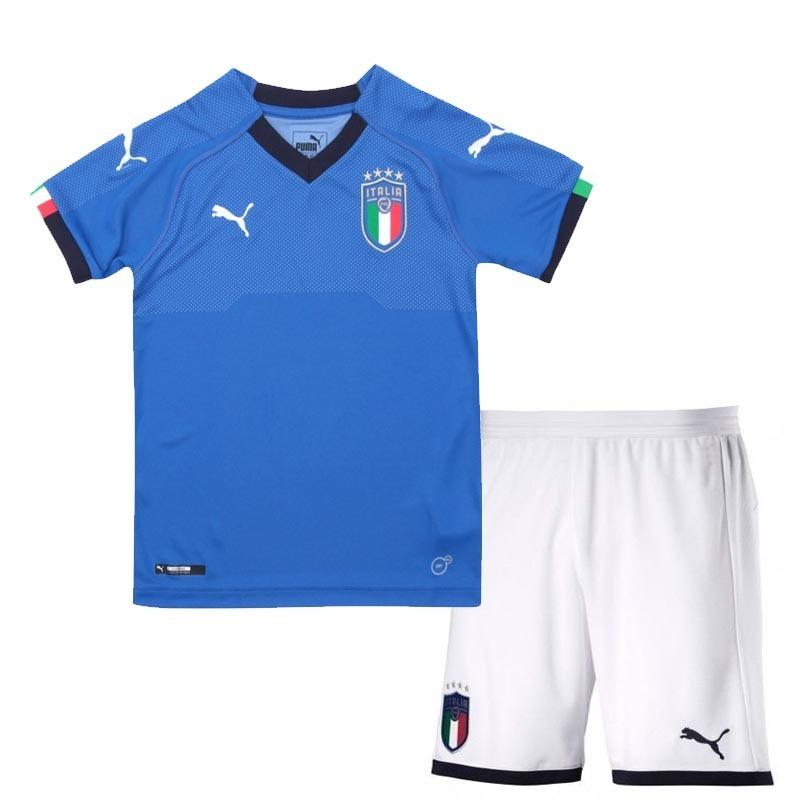 e0313115a4 uniforme infantil camisa e shorts criança seleção itália. Carregando zoom.