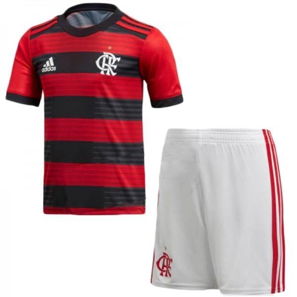 b704bcbc24e Uniforme Infantil Camisa E Shorts Criança Time Flamengo 2018 - R  140