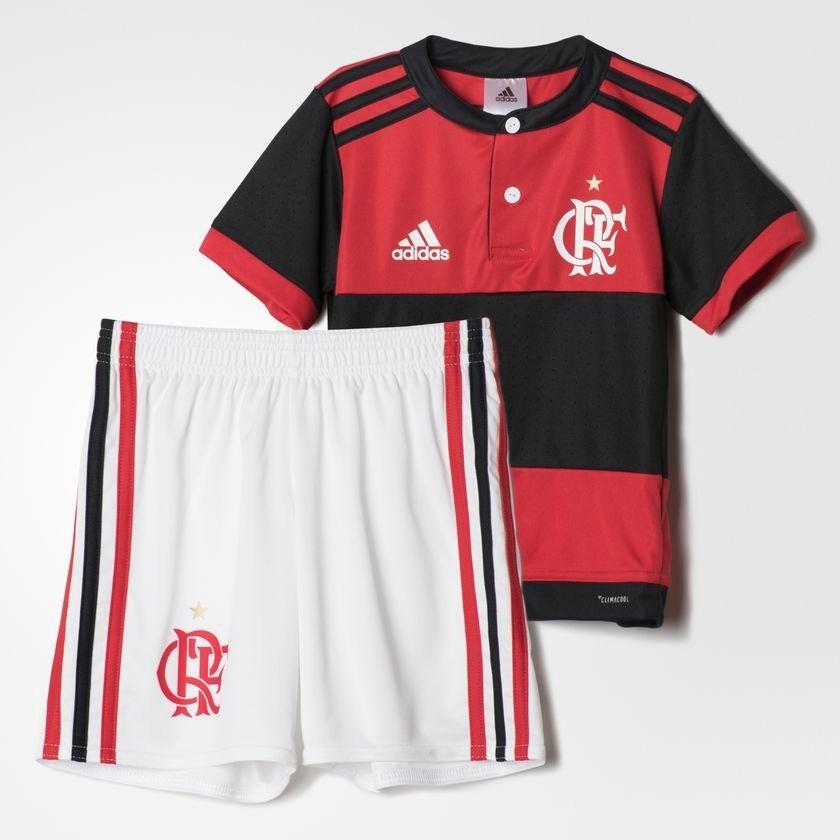 uniforme infantil camisa e shorts flamengo oficial adidas. Carregando zoom. 54064c53199c7
