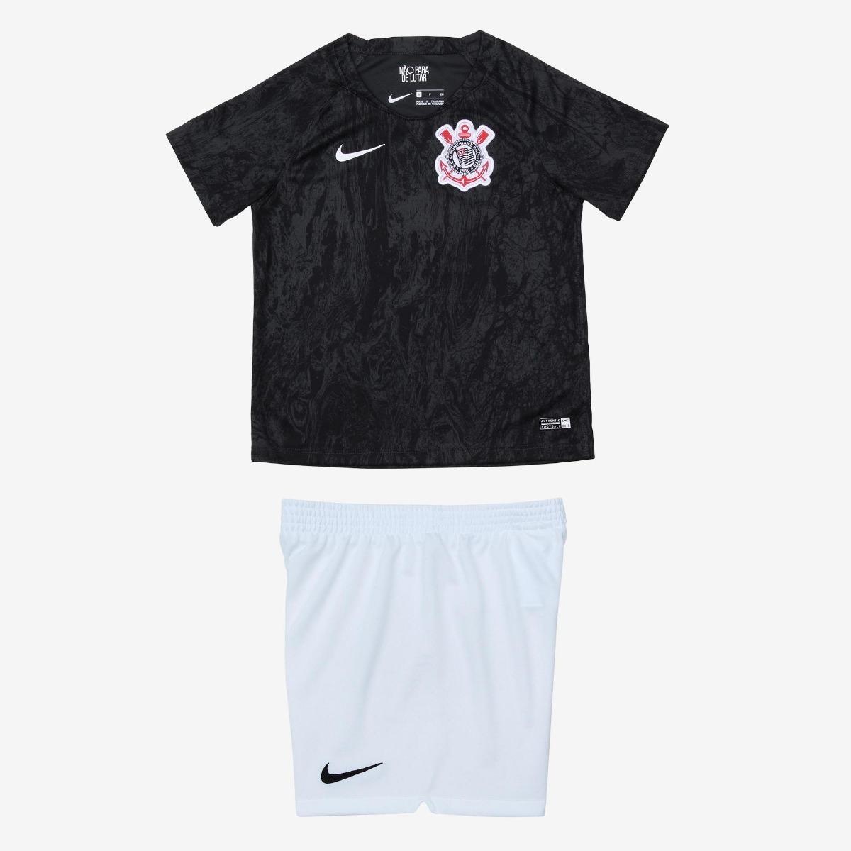 0eebd8846abd4 Uniforme Infantil Camisa E Shorts Time Futebol Corinthians - R  149 ...