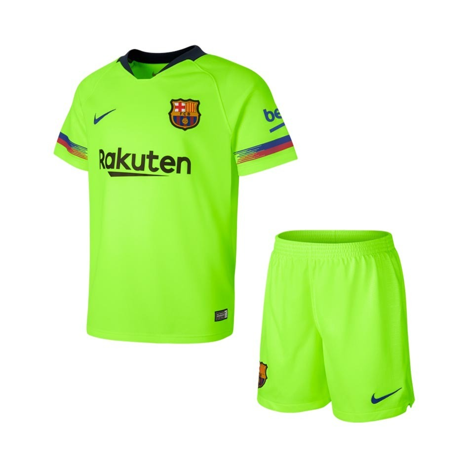 08b6c07acbb64 uniforme infantil camisa shorts barcelona 2018 encomenda. Carregando zoom.