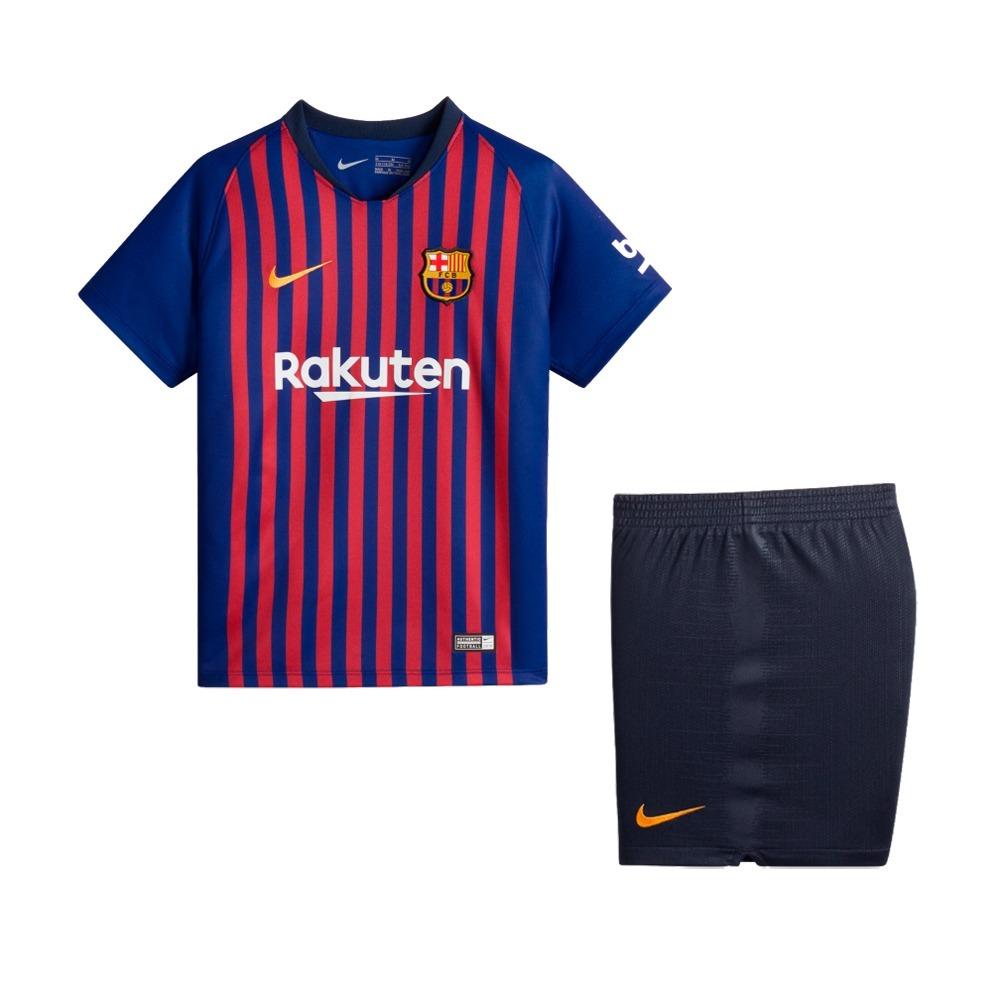f4822d0bd8ff1 uniforme infantil camisa shorts barcelona 2018 oficial nike. Carregando zoom .