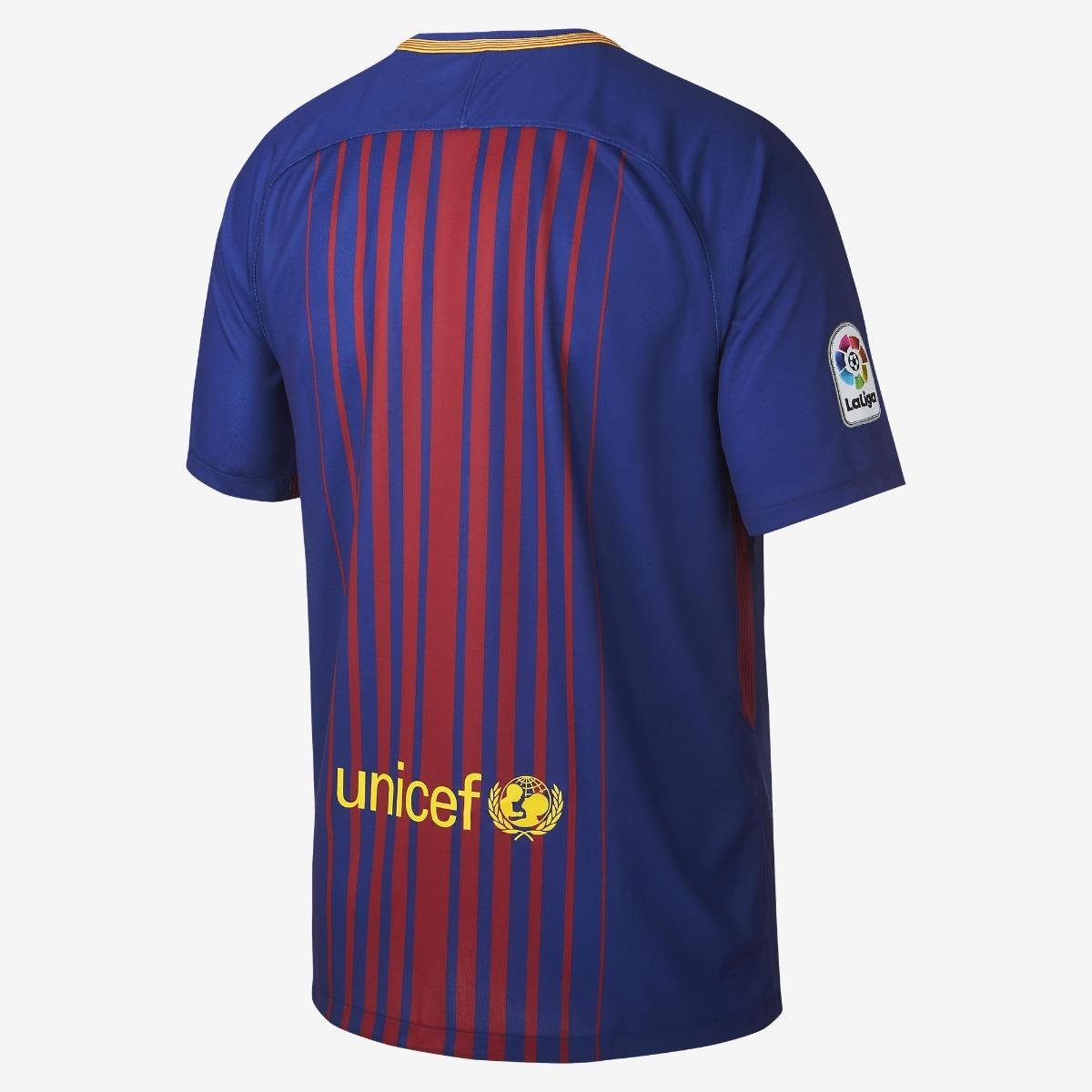 uniforme infantil camisa shorts barcelona 2018 oficial nike. Carregando zoom . df04727391c46